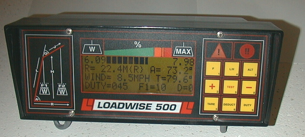 Load Indicator Rated Capacity Indicator : Loadwise model rated capacity load moment indicator